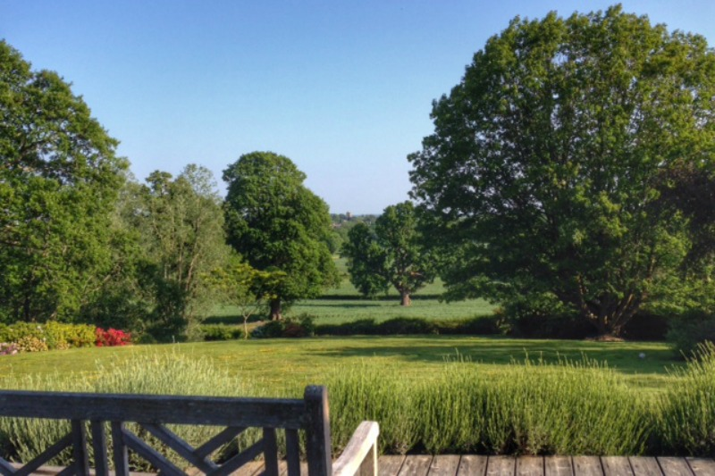 View of countryside from Barnfield House