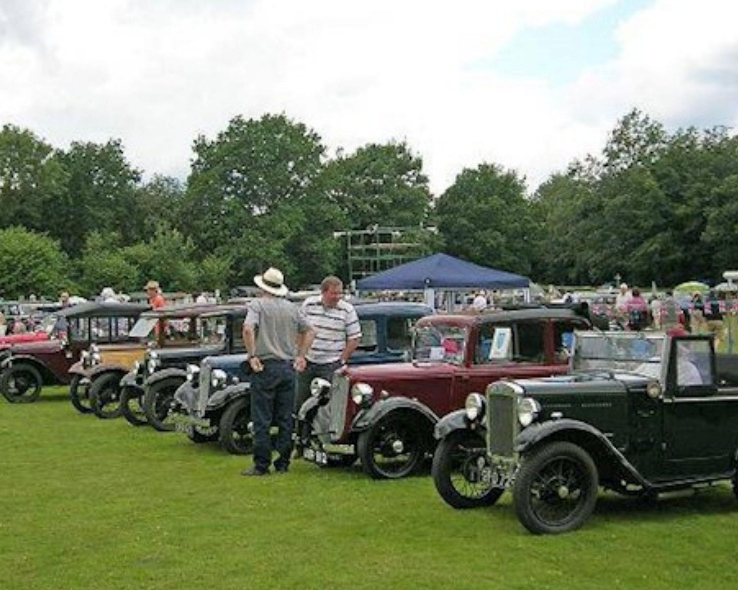 Vintage car rally gathering