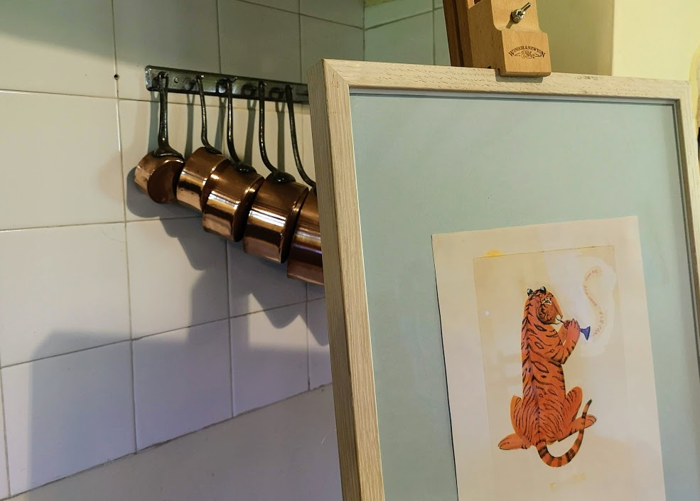 A tiger illustration in Bateman's kitchen