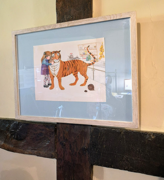 Judith Kerr's original illustration from her Tiger who came for Tea children's book