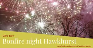 Fireworks display in Hawkhurst