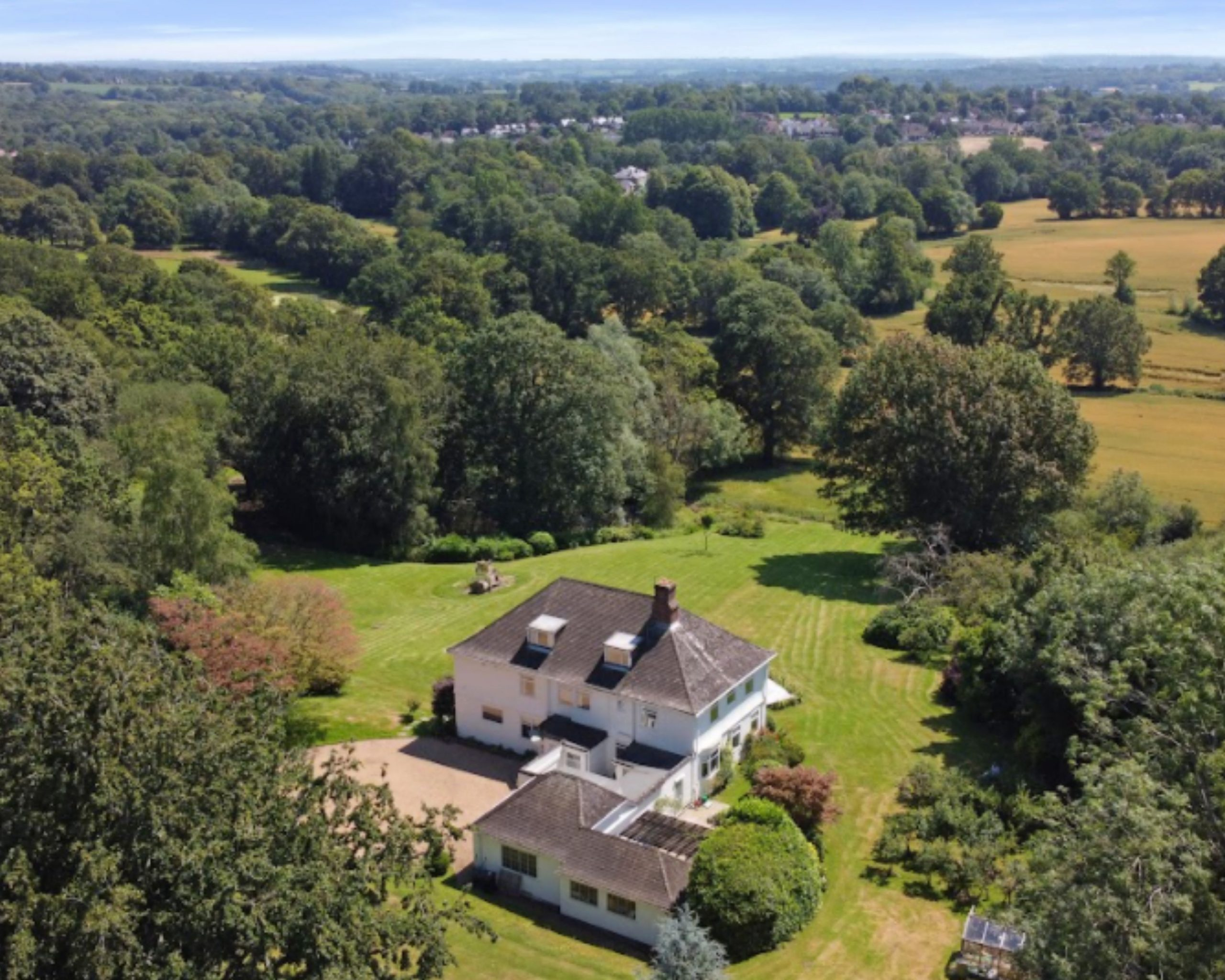 Aerial view of barnfield House Kent