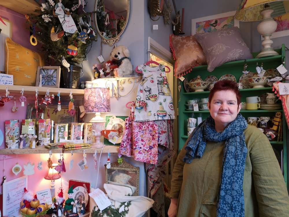 Lisa and her Ooh How Lovely gift shop in Kent