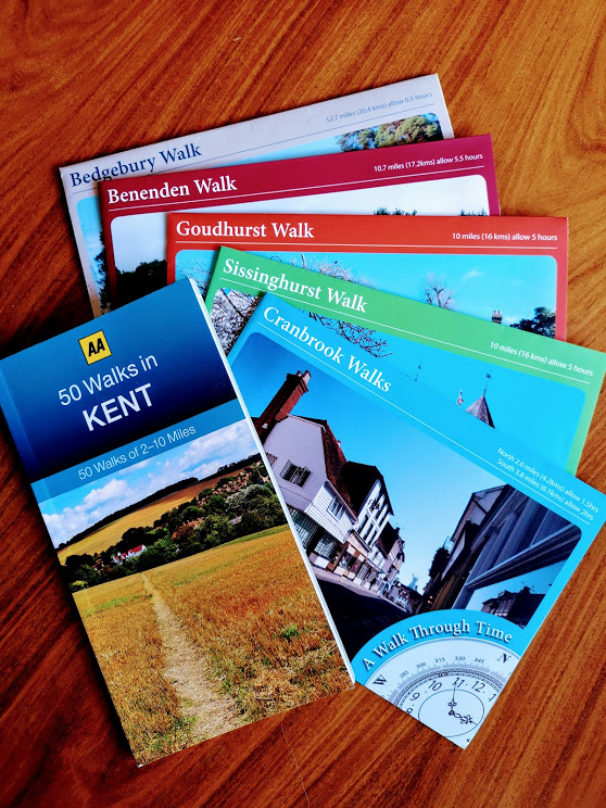 brochures on Kent walks