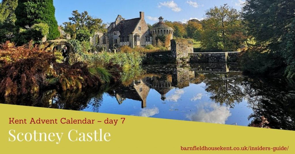 Scotney Castle reflected in its moat