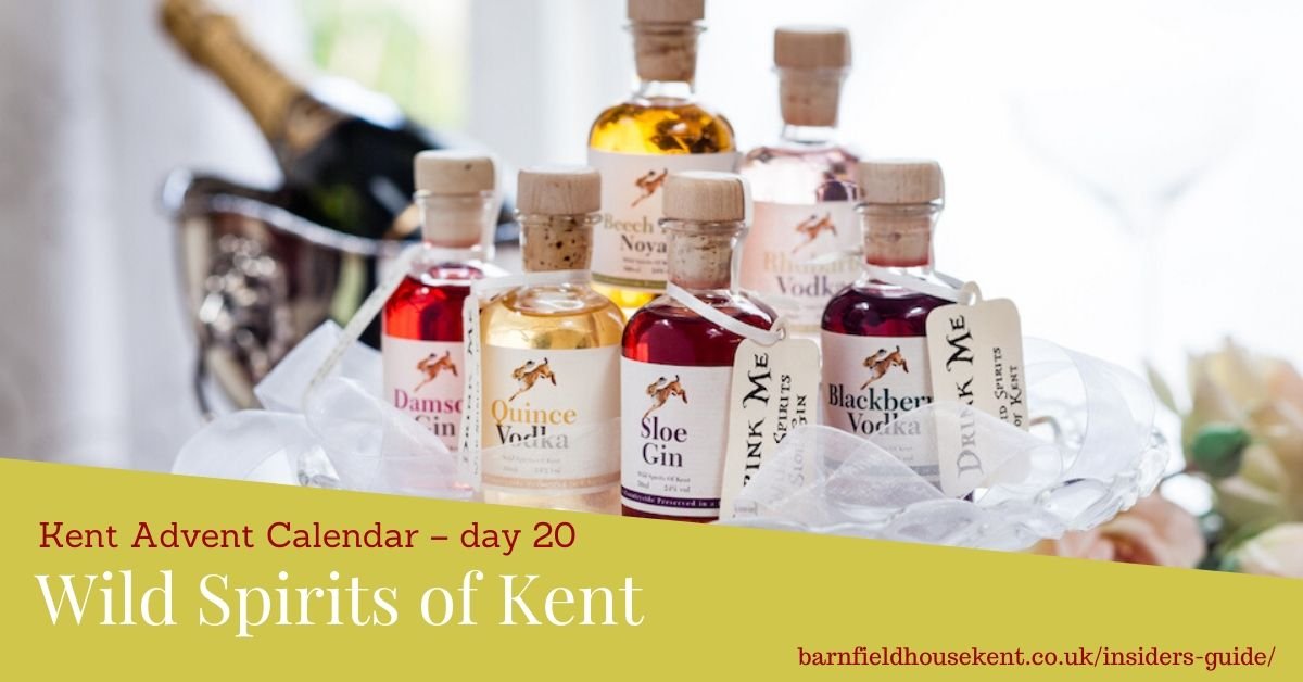 Miniature bottles of Wild Spirits of Kent