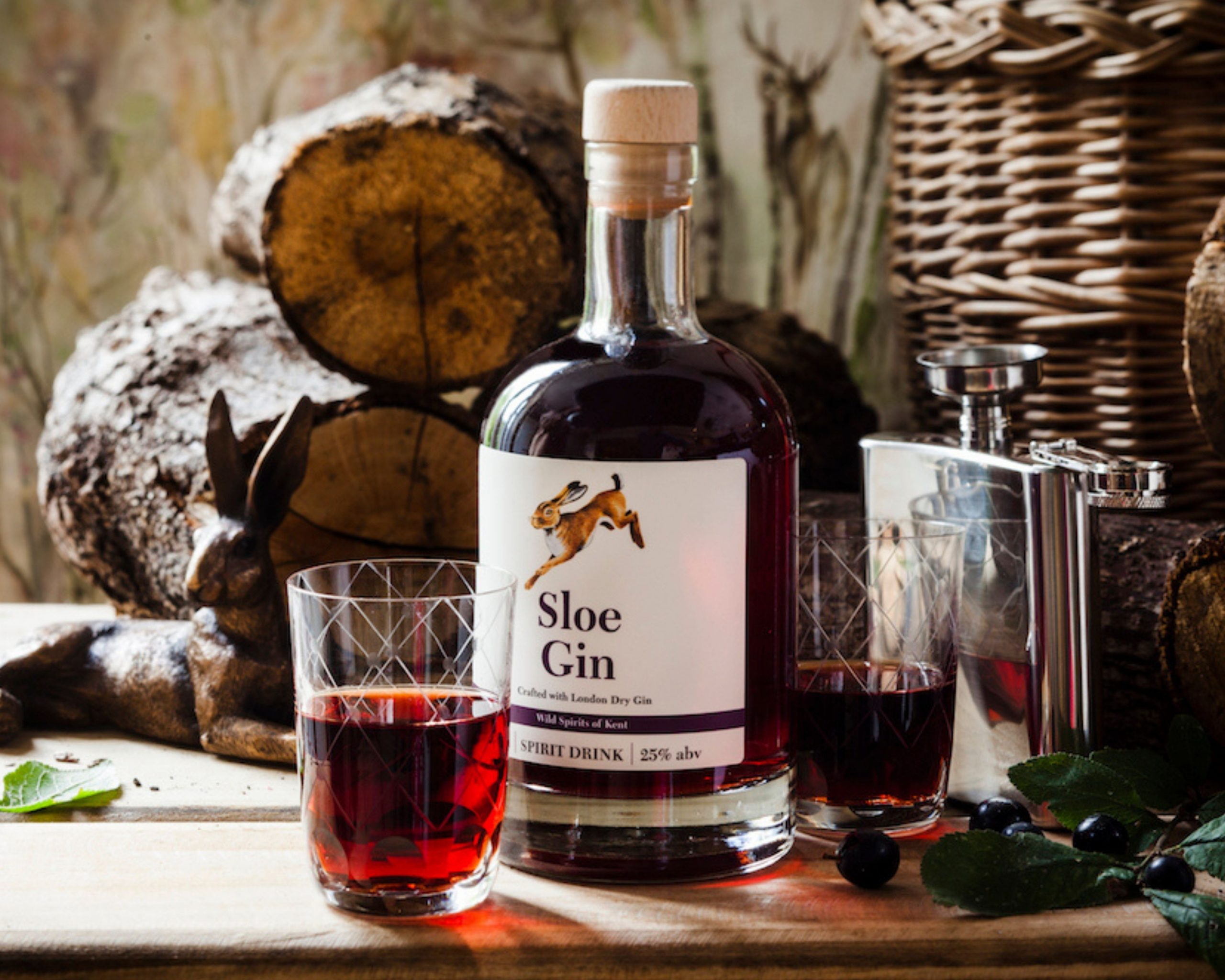 Bottle of Sloe Gin from Kent
