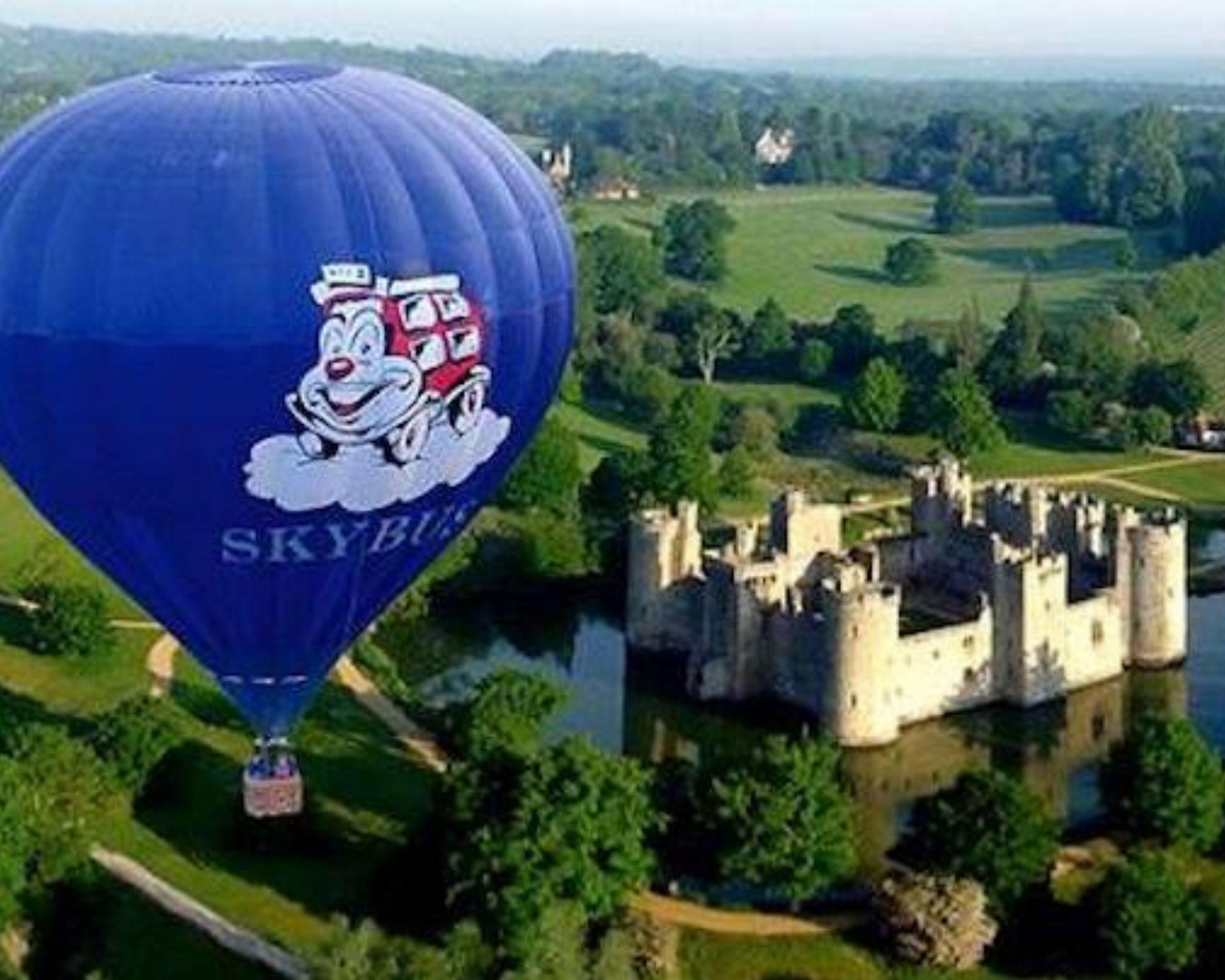Balloon ride over Bodiam castle