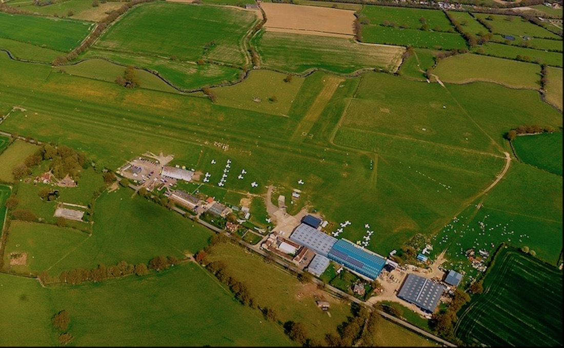 Headcorn Aerodrome from the air