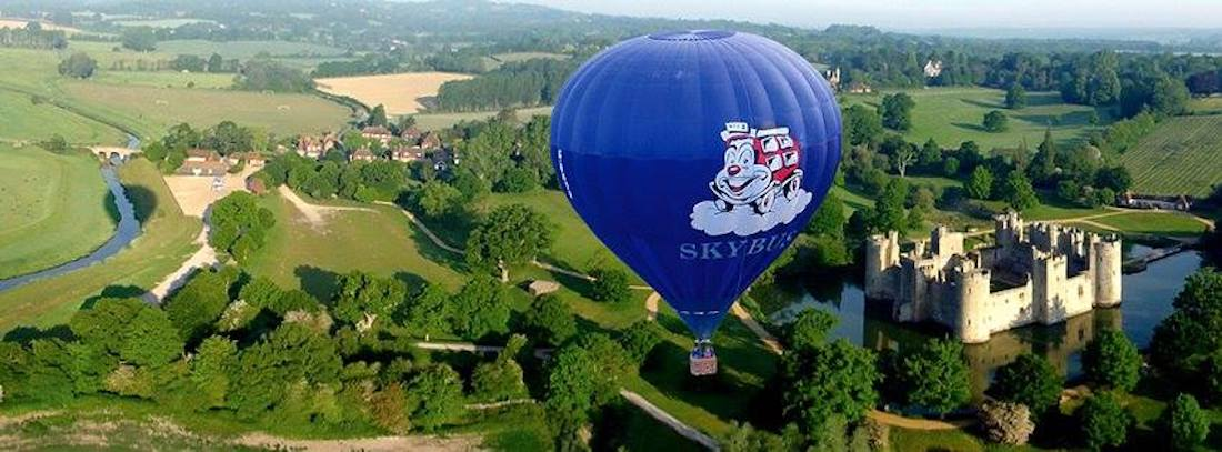 Ballooning over Bodiam Castle